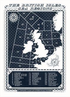 shipping forecast map - UK
