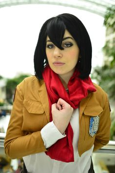 Mikasa (Attack on Titan) cosplay by Destiny Nickelsen? | Photo by Martin Wong #KatsuCon2014
