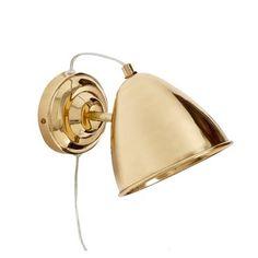 Material: Messing Größe: L16xB13xH20cm  Farbe: Gold Kabel mit Klippschalter Leuchtmittel: E27 max 40 Watt Lieferung erfolgt ohne Leuchtmittel