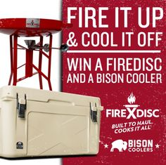 FireDisc - Win a Carbon Steel BBQ Grill & 50 QT. Bison Cooler - http://sweepstakesden.com/firedisc-win-a-carbon-steel-bbq-grill-50-qt-bison-cooler/
