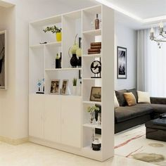 60 Favorite Studio Apartment Storage Decor Ideas And Remodel Living Room Partition Design, Living Room Divider, Room Partition Designs, Home Living Room, Living Room Designs, Living Room Decor, Studio Apartment Storage, Studio Apartment Partition, Cheap Room Dividers