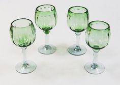 vintage mint green glasses
