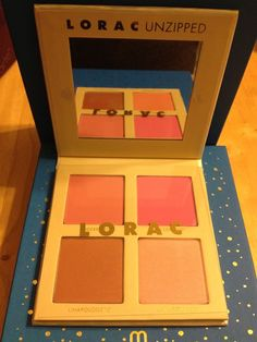 Lorac Unzipped Cheek Blush Palette Shimmer & Matte and Lorac Primer New #Lorac