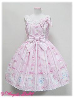 Whimsical Vanilla-chan Round JSK pinkxwhite
