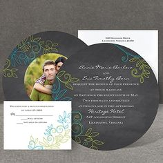 Chalky Vines - Invitation at Invitations By Dawn