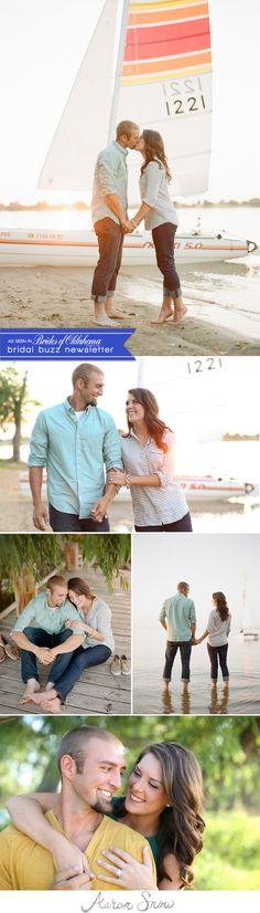 Loving this lakeside engagement shoot by Aaron Snow Photography. #wedding #cutecouple #engagement #photoshoot #photography