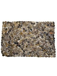 "Grey River Rock 34"" Stones Extra Large Rock Door Mat Doormat Indoor Outdoor by American Chateau. $46.99. Material: STONES. You get 1 Piece. Size: 0.7"" H x 33.8"" L x 21.2"" W. Color: Multicolor. Color: Multicolor; Material: STONES; Size: 0 2/3"" H x 33 4/5"" L x 21 1/5"" W; You get 1 Piece"
