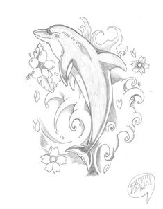 Here is my first ever Dolphin Tattoo not to bad for a first time I think. I hope… Here is my first ever Dolphin Tattoo not to bad for a first time I think. I hope you all like it – See this image on Photobucket. Pencil Art Drawings, Easy Drawings, Animal Drawings, Drawing Sketches, Tattoo Drawings, Dolphin Drawing, Dolphin Art, Kunst Tattoos, Body Art Tattoos