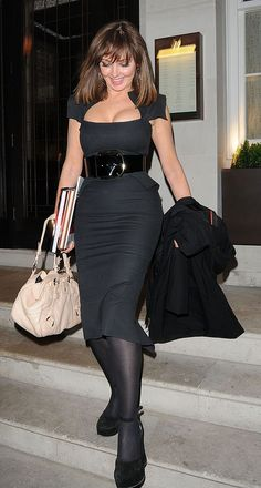 Carol Vorderman leaving 34 Restaurant on May 2012 in London, England. Sexy Older Women, Classy Women, Sexy Women, Carol Vordeman, Carol Kirkwood, Belle Silhouette, Fashion Tights, Voluptuous Women, Tight Dresses