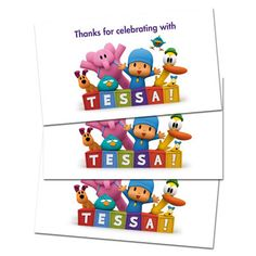 10 Pocoyo Party Favor Birthday Thank You Tags | eBay