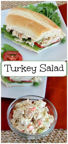 Turkey Salad l My Kitchen Craze (Healthy Ingredients Food Processor) Dill Recipes, Egg Recipes, Gourmet Recipes, Salad Recipes, Cooking Recipes, Healthy Recipes, Cookbook Recipes, Potato Recipes, Healthy Meals