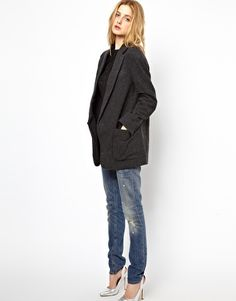 Image 4 of See By Chloe Oversized Masculine Coat with Front Pockets
