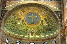 S. Apollinare in Classe, Ravenna, apse mosaic: Transfiguration