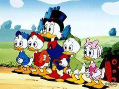 Scrooge McDuck and Huey, Dewey, and Louie