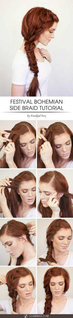 Hair How-To: Bohemian Side Braid Tutorial