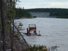 Fishwheel at the confluence of the Copper and Tazlina Rivers in Glennallen, Ak