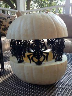 Pumpkin Pegs -spider and spider web