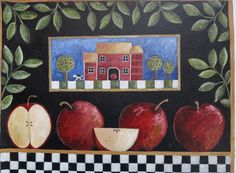 AN APPLE A DAY Modern farmhouse style cottage by ChristineGraf