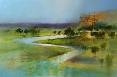 wetlands watercolor - Google Search