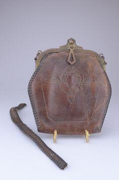"Antique Western Era 1910's-20's Art Nouveau Tooled Leather Purse 6"" Tall C   eBay"