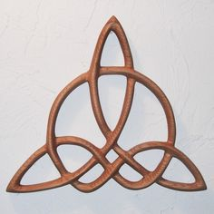 Celtic Triquetra of HarmonyWood Carved Knot by signsofspirit, $78.00