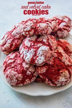 Gooey Butter Red Velvet Cake Cookies