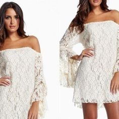 Pretty Off Shoulder Short Party Dress with Long Sleeve White Lace A-Line 2015 Cocktail Dresses Online with $107.44/Piece on Orient2015's Store   DHgate.com
