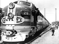 train / presidential | Title: Santa Fe train used by the President on western trip.