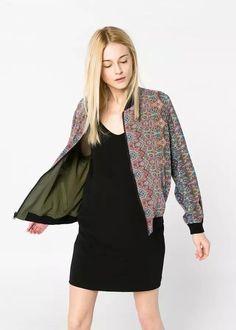 Purposeful 2018 Autumn Flower Floral Print Baseball Jacket For Women Bomber Jacket Basic Long Sleeve Top Streetwear Zipper Casual Outwear Basic Jackets Jackets & Coats