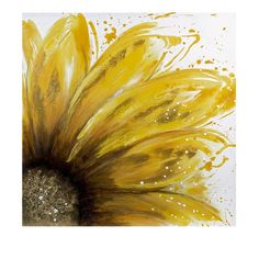 Yellow Daisy Oil On Canvas