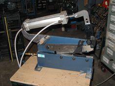 Air powered metal shear DIY