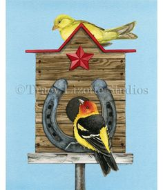 This fun watercolor painting of Western Living by TracyLizotteStudios.com is available at: http://tracylizottestudios.com/index.php/shop/prints/product/270-western-living