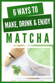 6 Ways to Make, Drink & Enjoy Matcha Didn't enjoy matcha the first time around? Try making 1 of these 6 matcha drink recipes so you can find a way to love the green tea. Matcha Tea Latte, Matcha Drink, Matcha Smoothie, Green Tea Latte, Matcha Green Tea, Green Teas, Matcha Powder Recipes, Matcha Tea Powder, Starbucks Green Tea Drinks