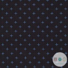 Plus Sign Yarn Dyed in Denim - Xs - Indikon Denim Dark Indigo Cotton Fabric - SRK 16719-62 - Robert Kaufman - Dressmaking Material - Quilt Yarn Stitch Fabric Yarn, Cotton Fabric, Dressmaking Fabric, Marine Blue, Robert Kaufman, Colored Denim, Indigo, Fabrics, Kids Rugs