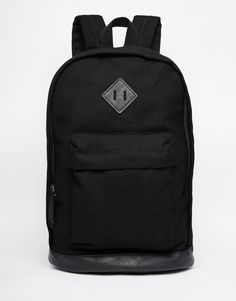 5d61c8f57299e ASOS College Backpack In Black Canvas Black Canvas
