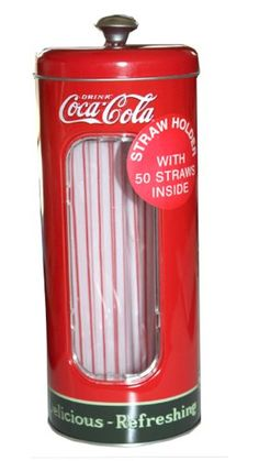 Vintage Style Coca Cola Coke Tin Drinking Straw Holder, 50 Straws Included Coca-Cola,http://www.amazon.com/dp/B0084I1HUC/ref=cm_sw_r_pi_dp_FFhYsb1NZRXX1YJ7