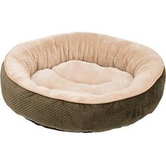 """Petco Textured Round Cat Bed in Fern, 20"""" Diameter Petco http://www.amazon.com/dp/B00CLAP1OW/ref=cm_sw_r_pi_dp_u.dJub0J99BH7 This girl is getting her options ready! only comes in one color, but pretty cheap."""