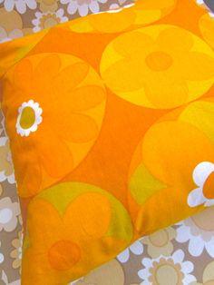 Pomme de Jour Vintage Fabric Cushion Cover  1970s by Pommedejour, $26.00