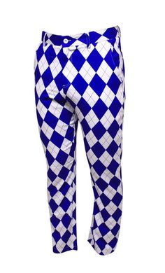 Blue Diamond golf trousers are inspired by a classic argyle pattern but this design is anything but old fashioned. These golf trousers will make you feel and play like a proper little gem! Slim fitting, lightweight golf trousers with extra deep pockets for those extra balls, these funky golf clothing is perfect for the serious golfer!