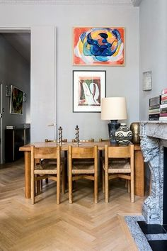 Dining Room - Maximising light and space was key to decorating this post-war Pimlico flat - real homes on HOUSE by House & Garden.