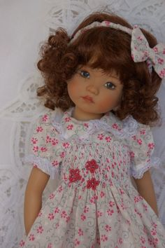 "Effner 13"" Little Darling *LACEY FLORAL FANCY* by Ladybugs Doll Designs ~ OOAK"