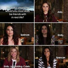 Image shared by AlmostLover. Find images and videos about beautiful, pretty little liars and pll on We Heart It - the app to get lost in what you love. Prety Little Liars, Pretty Little Liars Quotes, Best Tv Shows, Best Shows Ever, Favorite Tv Shows, Spencer Hastings, Yoga Routine, Pll Logic, Pll Memes
