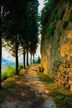 Morning walk in San Gimignano (Tuscany, Italy) by Teelicht