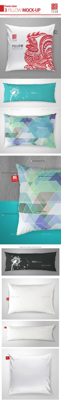 Pillow #Mock-up - #Miscellaneous Apparel Download here:  https://graphicriver.net/item/pillow-mockup/20067984?ref=alena994