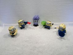 Lot of Despicable Me 2 Minions Toy Figures stuart dave jorge phil kevin A USED