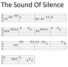 Easy Guitar Tab The sound Of Silence