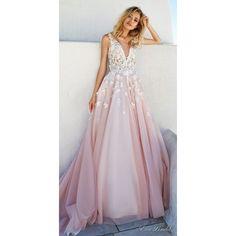 "Eva Lendel 2017 Wedding Dresses ""Santorini"" Bridal Campaign ❤ liked on Polyvore featuring dresses and wedding dresses"