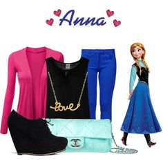 Anna by disneyfasion on Polyvore featuring polyvore fashion style J.TOMSON Vero Moda Boutique Moschino Call it SPRING Chanel Minnie Grace
