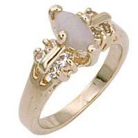 Women's Classic Line Genuine Nature Stone Opal Ring, Size: 5-10 . $17.10