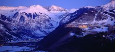 Telluride, CO - Mountain Village and town below